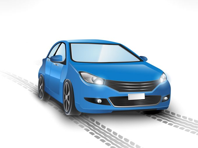 Blue Car PPT Backgrounds