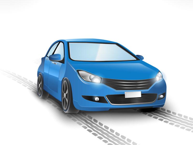 Blue Car Powerpoint Backgrounds