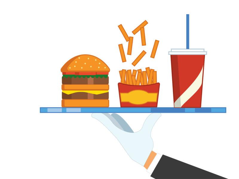 Burger Foods Powerpoint Backgrounds