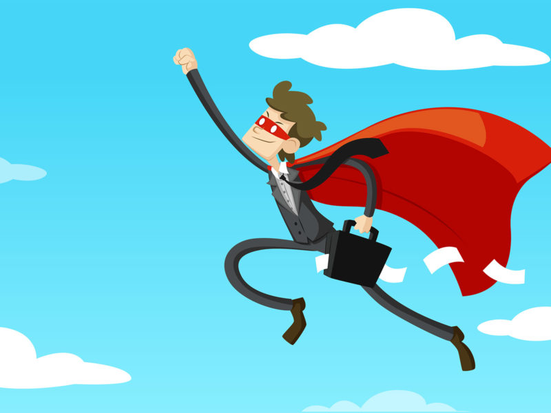 Business Superhero PPT Backgrounds