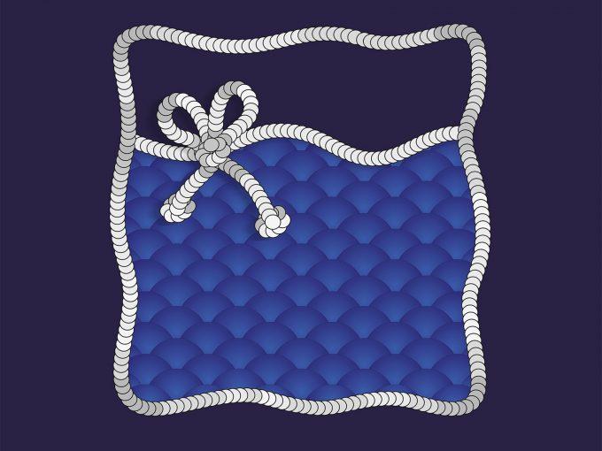 Navy Blue Sea PPT Backgrounds