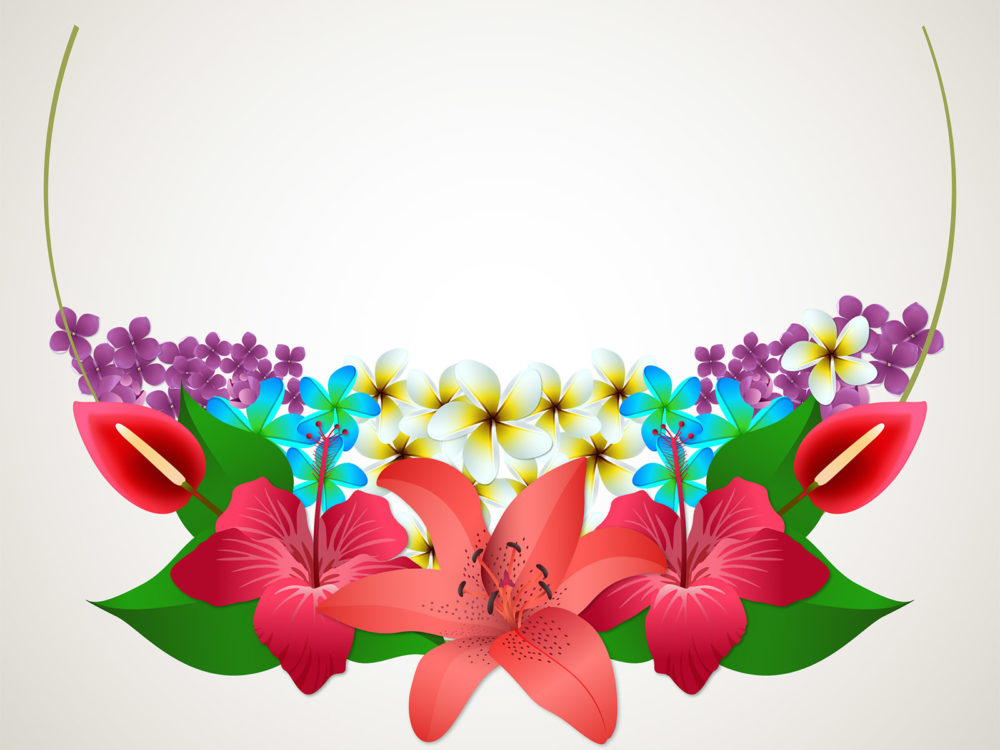 6179 Summer Flowers Ppt Backgrounds on Flower Template To Color