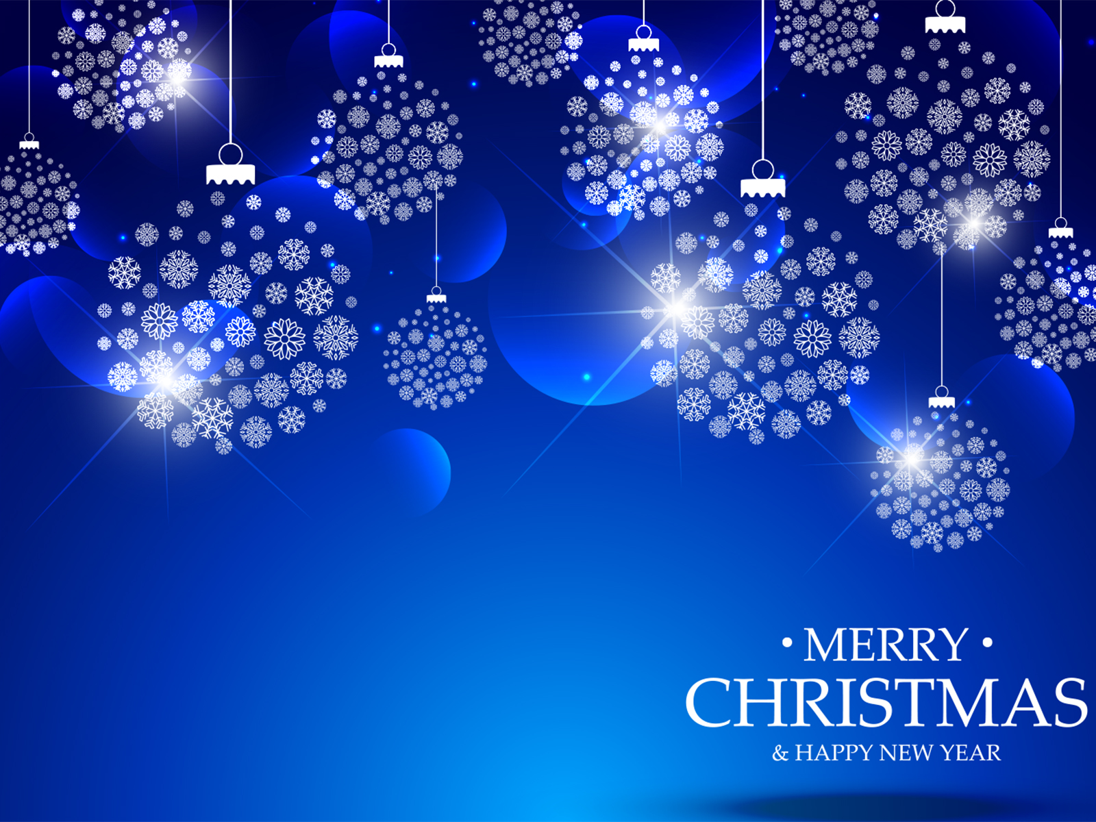 Blue Merry Christmas PPT Backgrounds