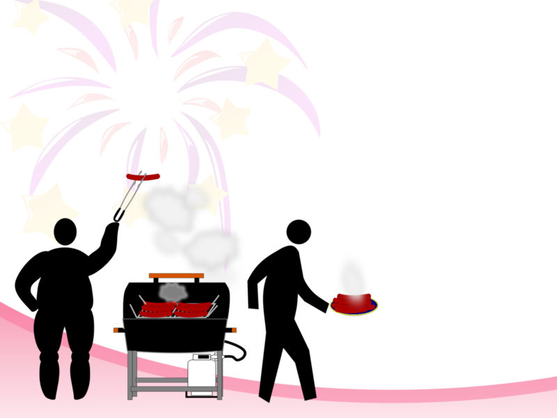 Barbecue Grill PPT Backgrounds