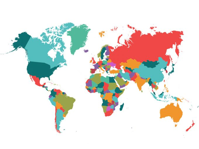 Political map world PPT Backgrounds