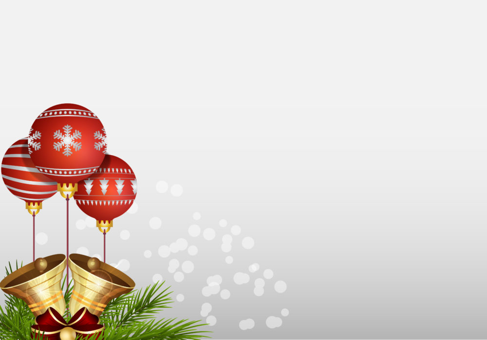 Realistic Christmas Balls Backgrounds