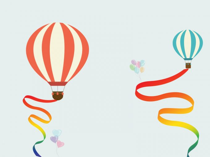 Balloon Travel PPT Backgrounds