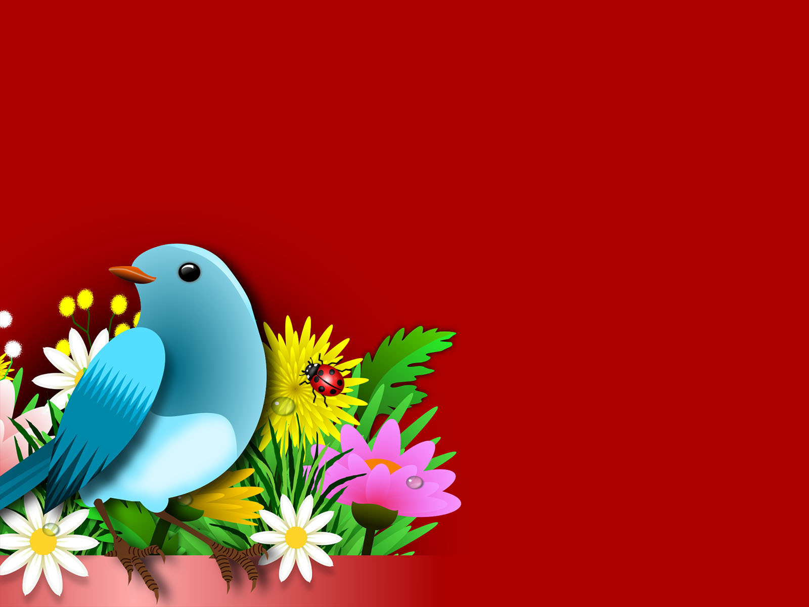 Birds Flowers PPT Backgrounds