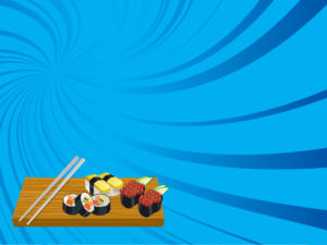 Bring Sushi PPT Backgrounds