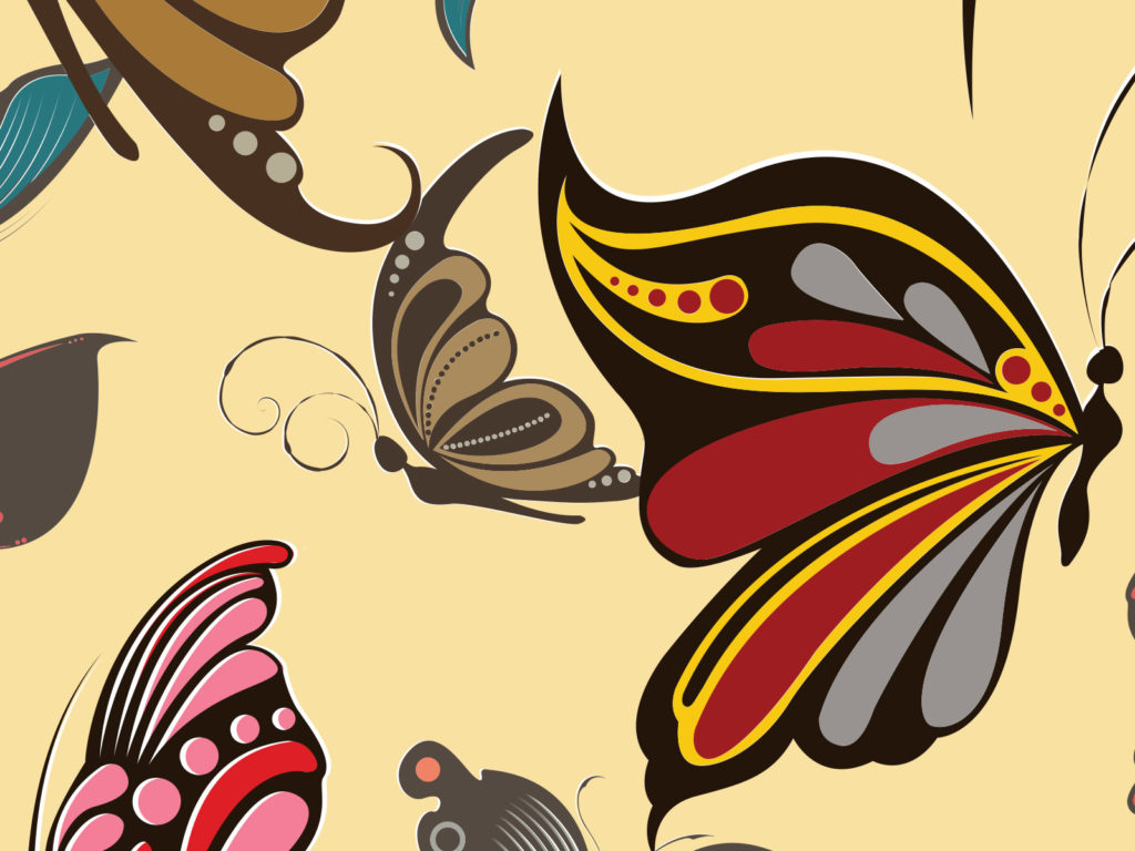 Butterfly Effects Backgrounds | Brown, Design, Red Templates