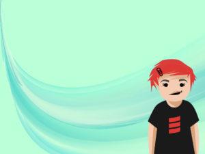 Cartoon Girl Powerpoint Backgrounds