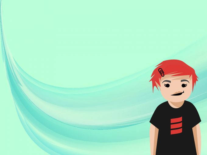 Cartoon Girl PPT Backgrounds