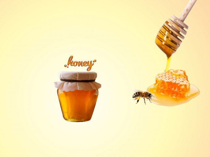 Cute Bee and Honey PPT Backgrounds