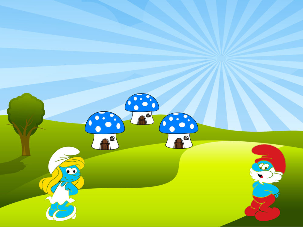 Cute smurfs ppt backgrounds cartoon templates ppt grounds normal resolution toneelgroepblik Gallery