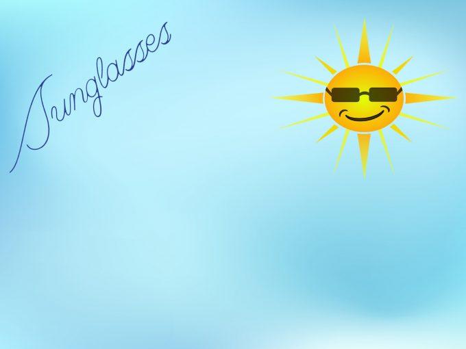 Cute Sunglasses PPT Backgrounds