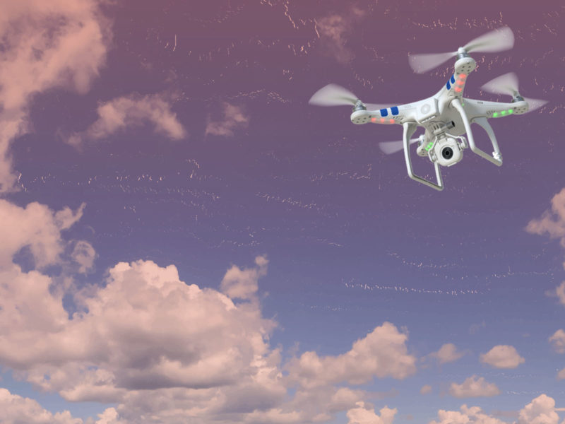 Drones Flying PPT Background