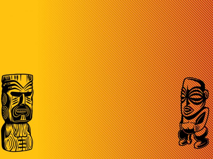 Exotic Statue PPT Backgrounds