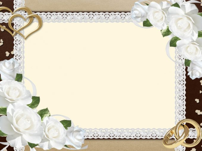 Fancy Wedding Border PPT Backgrounds