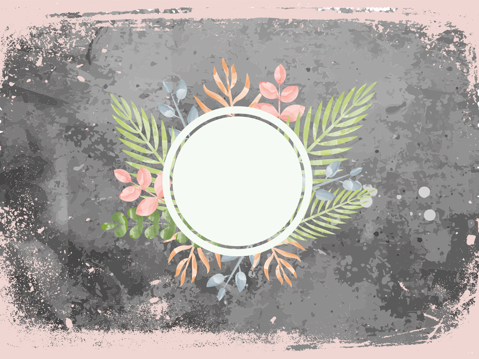 Flower Frame PPT Backgrounds