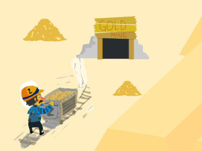 Gold Miner Powerpoint Backgrounds