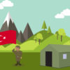 Guard Turkish Soldier PPT Background