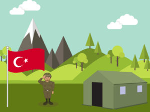 Guard Turkish Soldier PPT Background