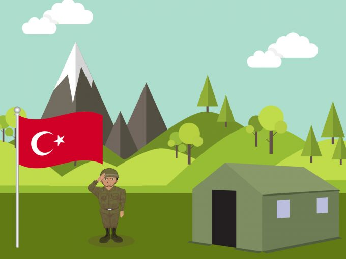 Guard Turkish Soldier PPT Backgrounds