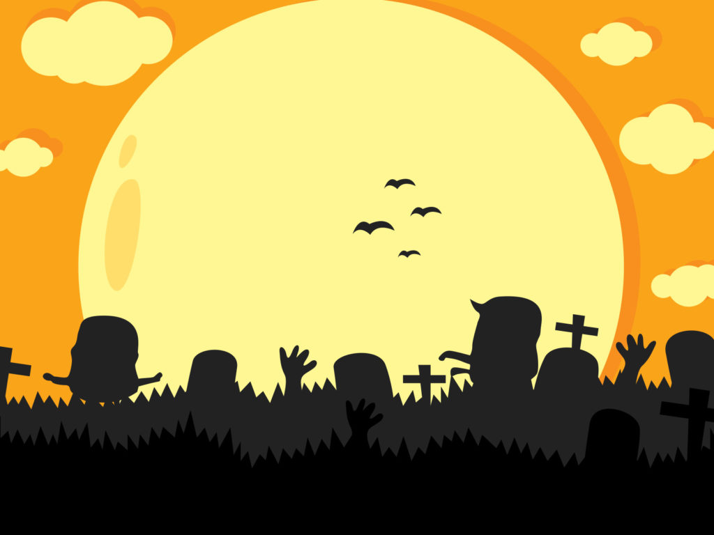halloween party backgrounds black grey holiday yellow templates