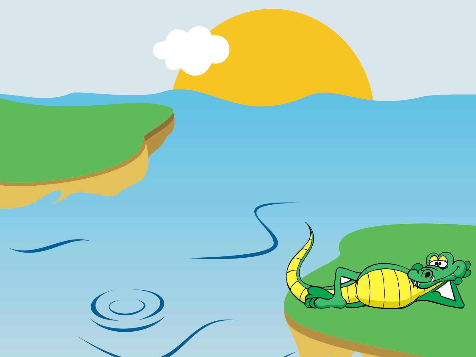 Happy Crocodile PPT Background
