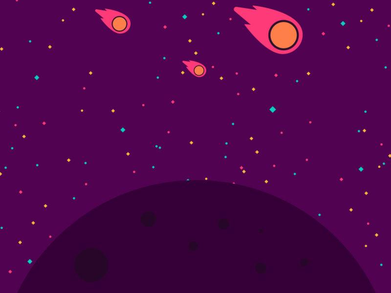 Meteor Crash PPT Backgrounds