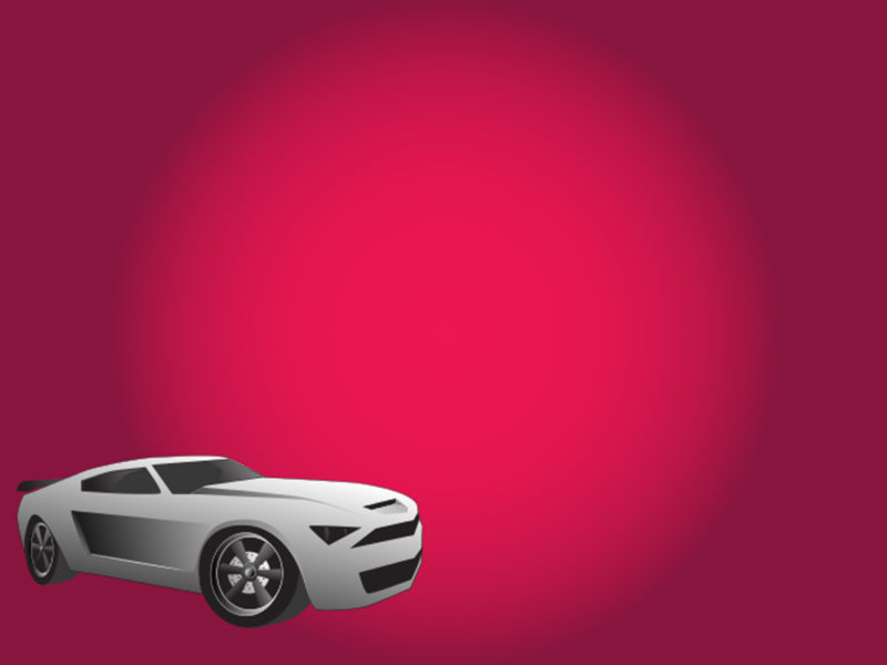 Mustang Illustration PPT Backgrounds