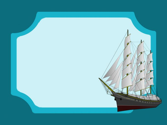 Oceanic Frigate PPT Backgrounds