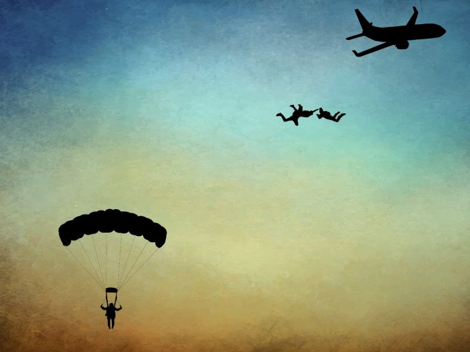 Parachute Jumping PPT Backgrounds