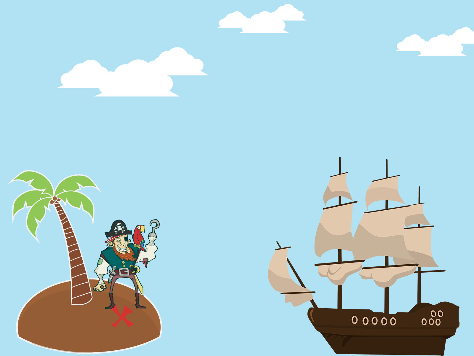 Pirate island ppt backgrounds cartoon multi color templates pirate island powerpoint templates toneelgroepblik Choice Image