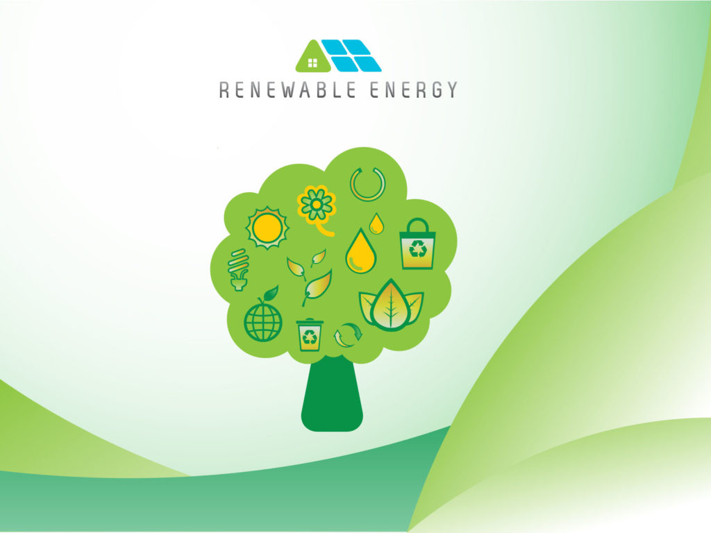 renewable energy ppt backgrounds - blue, green, nature, white, Powerpoint templates