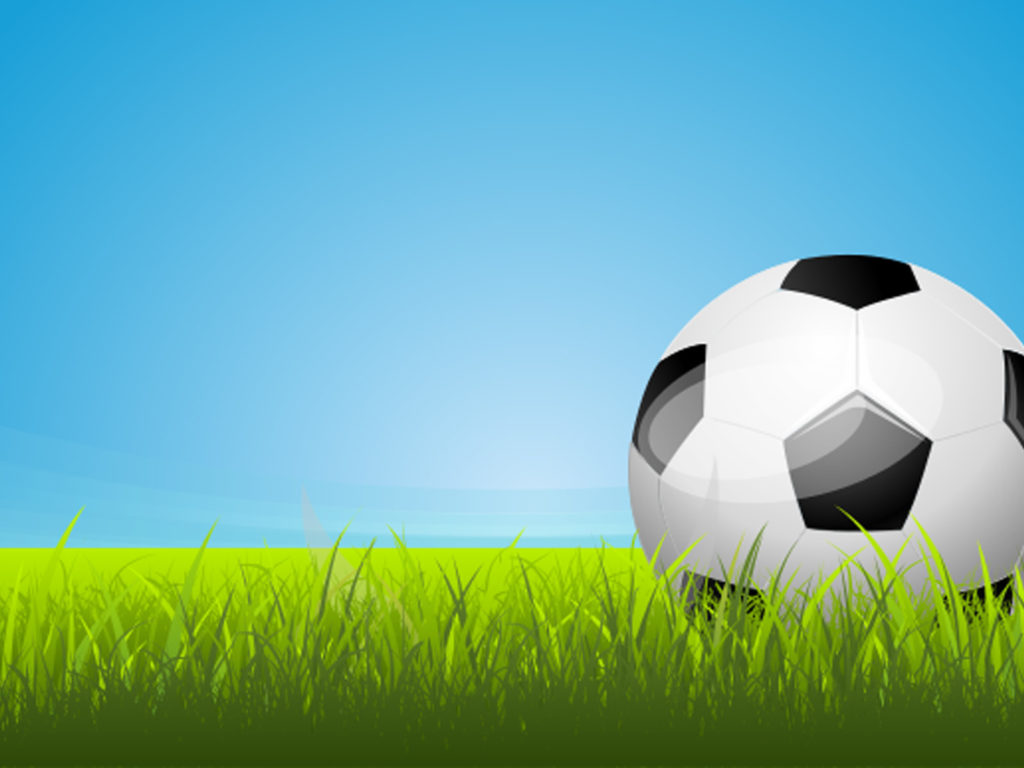 soccer area ppt backgrounds - black, blue, green, sports, white, Modern powerpoint