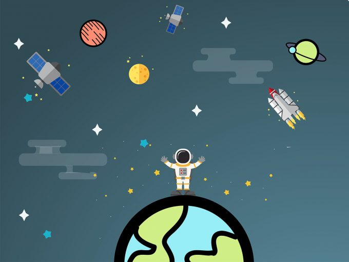 Space Adventure Time PPT Backgrounds