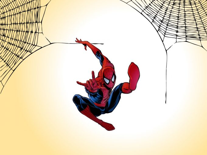 Spiderman Jumping PPT Backgrounds