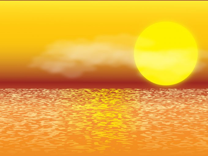 Sunset Illustration PPT Backgrounds