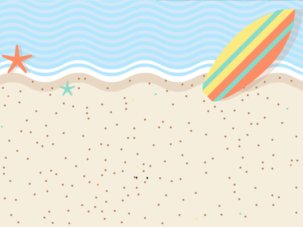 sweet beach ppt backgrounds - blue, holiday, red, white, yellow, Modern powerpoint