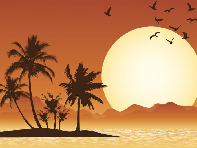 Tropical Scene PPT Backgrounds