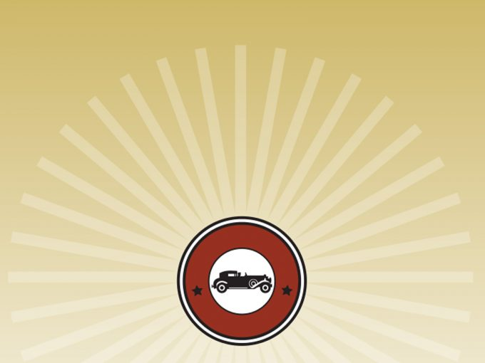 Vintage Car Icon PPT Backgrounds