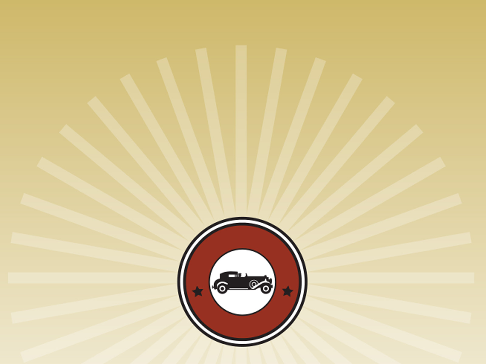 Vintage Car Icon Powerpoint Backgrounds
