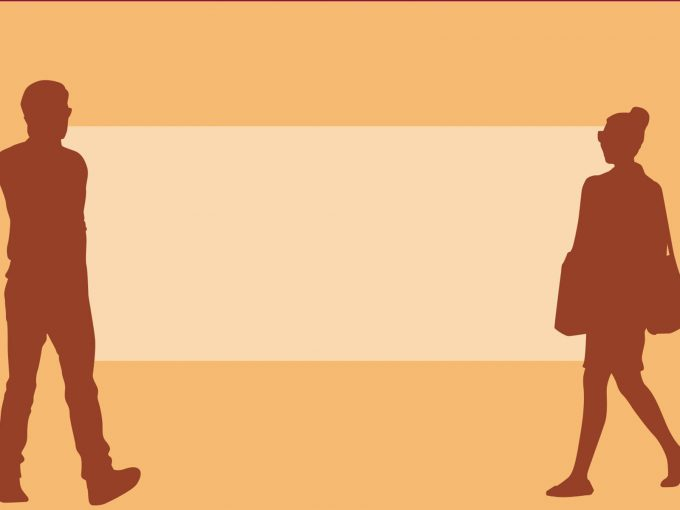 Walking People Silhouette PPT Backgrounds