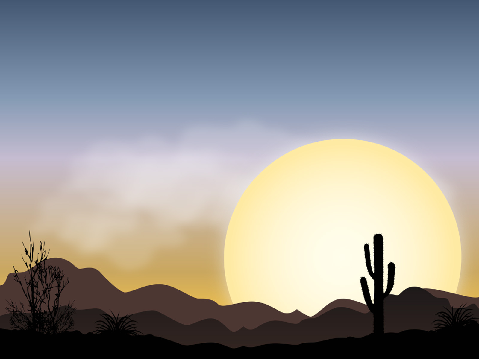 Wild Desert Landscape PPT Backgrounds
