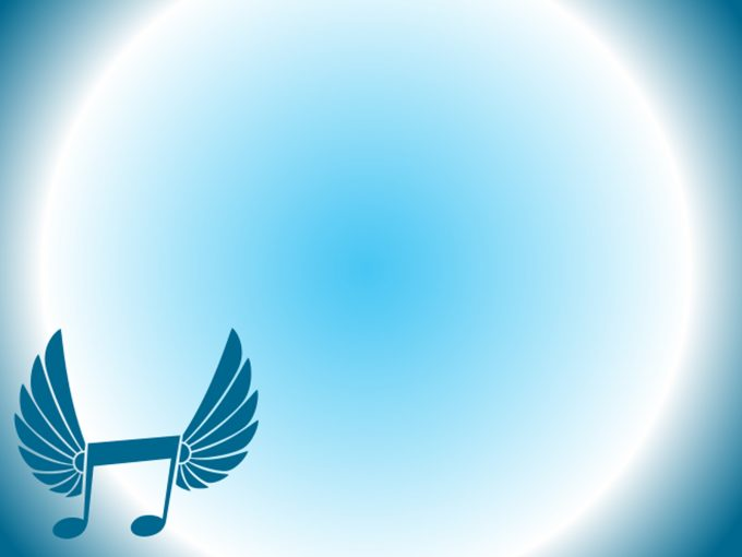 Winged Music Icon PPT Backgrounds
