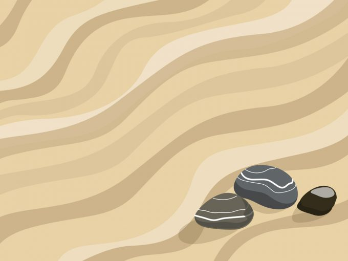 Zen Garden Sand PPT Backgrounds