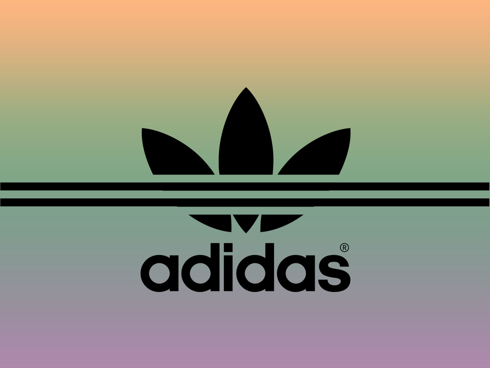 Adidas Sport Brand Backgrounds Black Multi Color Sports