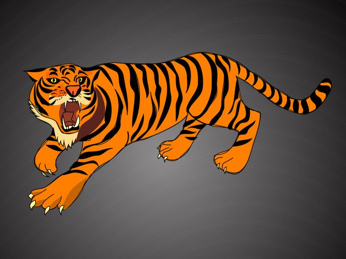 Angry Tiger PPT Backgrounds