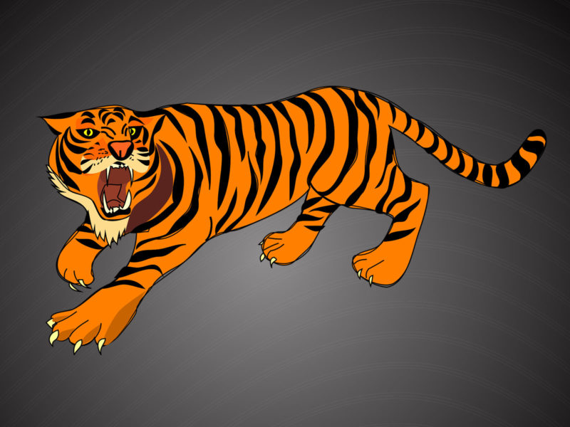 Angry Tiger Powerpoint Backgrounds